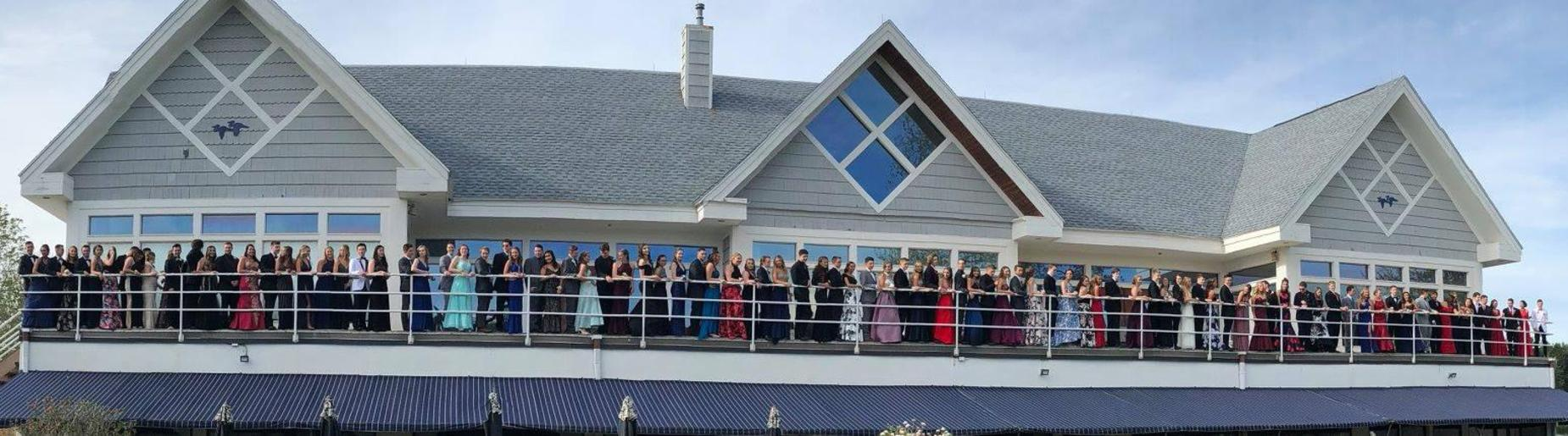 all students at prom 2018