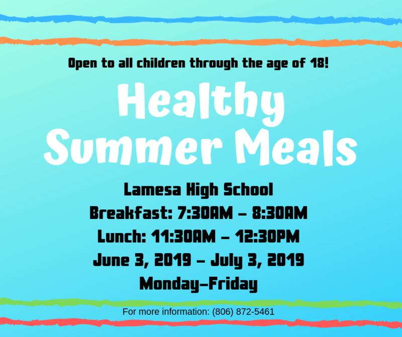 Summer Meals Thumbnail Image