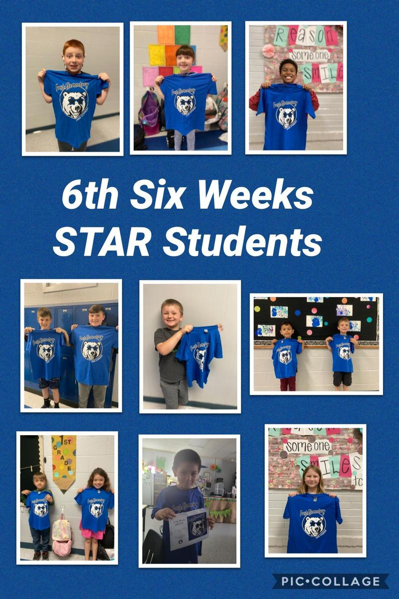 Elementary 6th Six Weeks STAR Students Featured Photo