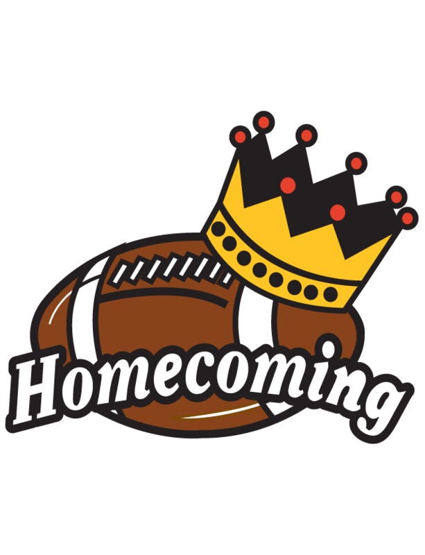 Homecoming football with crown