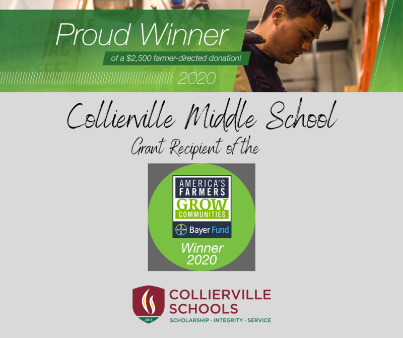 Collierville Farmer Directs America's Farmers Grow Communities Grant to Collierville Middle School Featured Photo