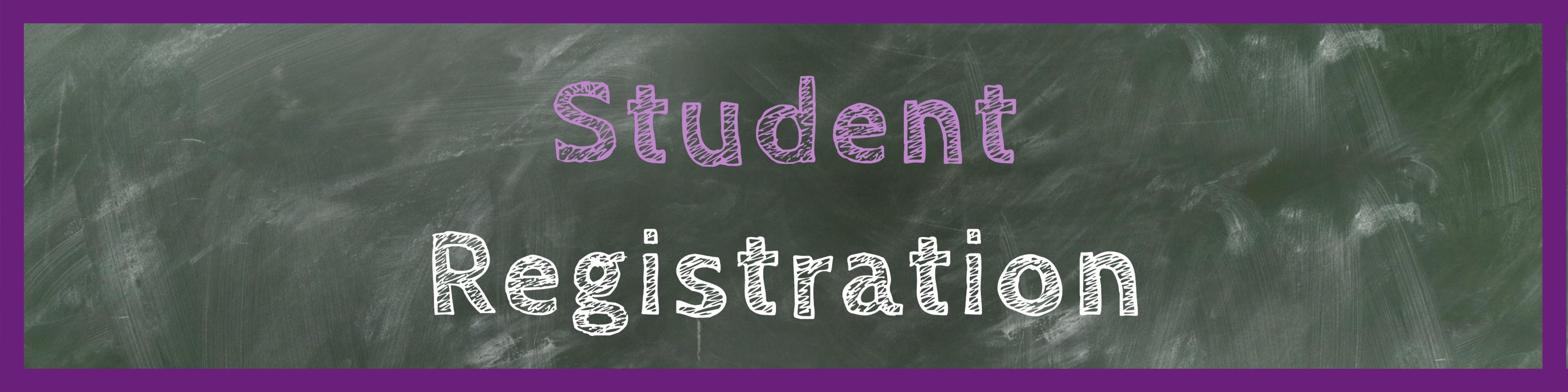 Student Registration Header