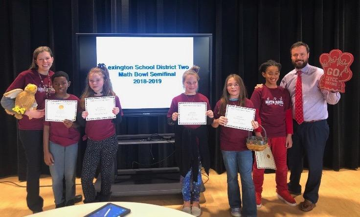 Cayce math team with Principal Andrew Drozdak