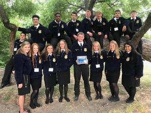 Photo of Coldspring FFA Chapter members