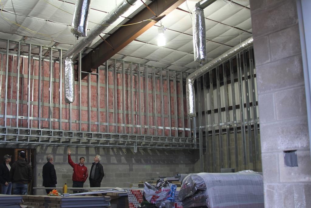 Photo of interior of LJH band hall
