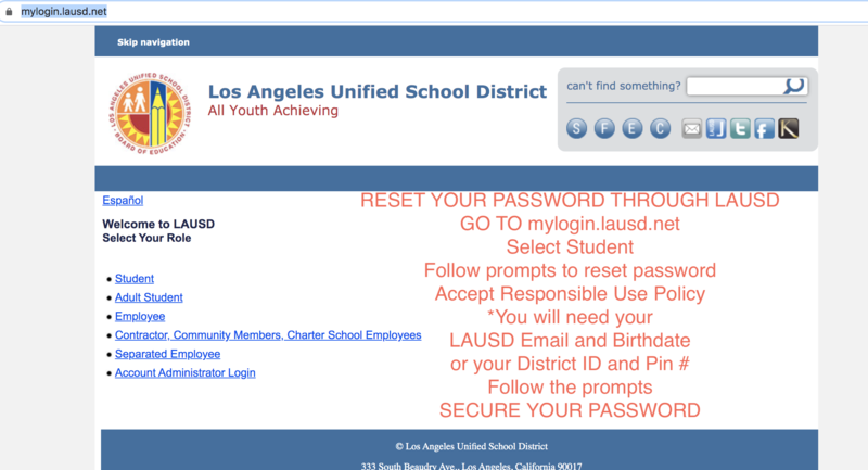 Do you need to reset your MyMail or LAUSD Account? Featured Photo