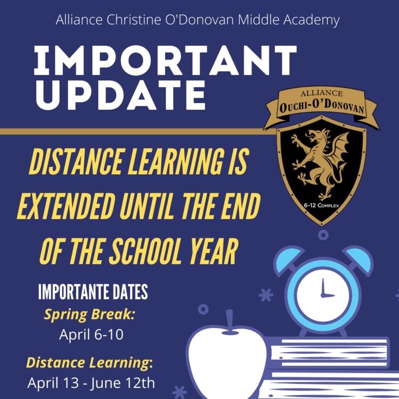 Update: Distance Learning extended until June 12th Thumbnail Image