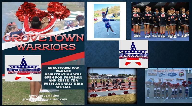 2021 Grovetown Pop Warner Football/ Cheer Sign Up! Featured Photo