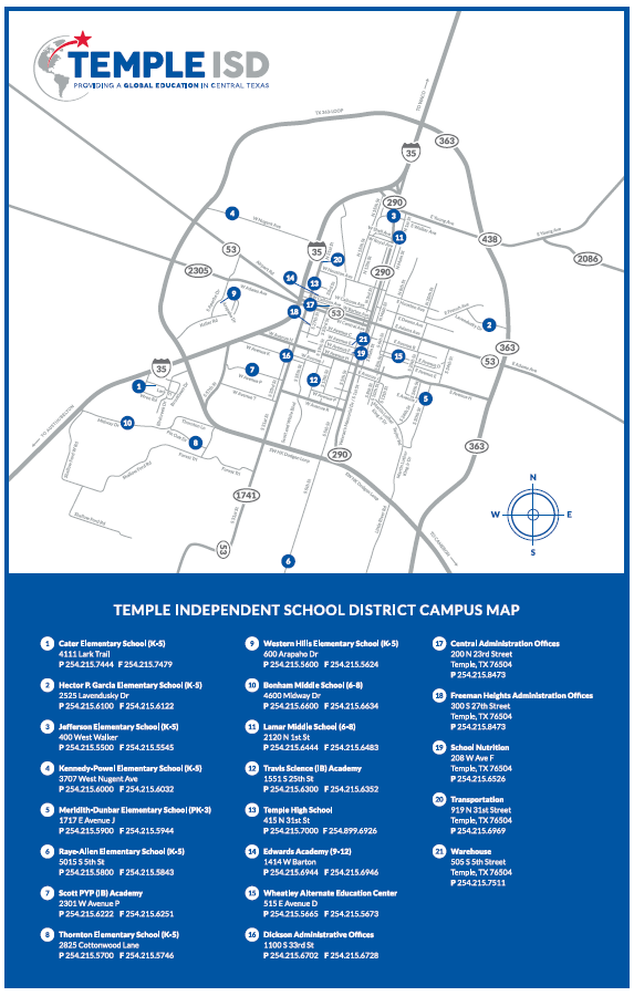 District Map – District Map – Temple Independent School District