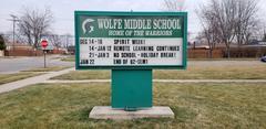 Outdoor School Sign with Calendar Events