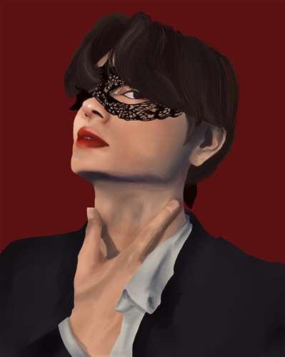 Masked Portrait - Fernanda Dominguez