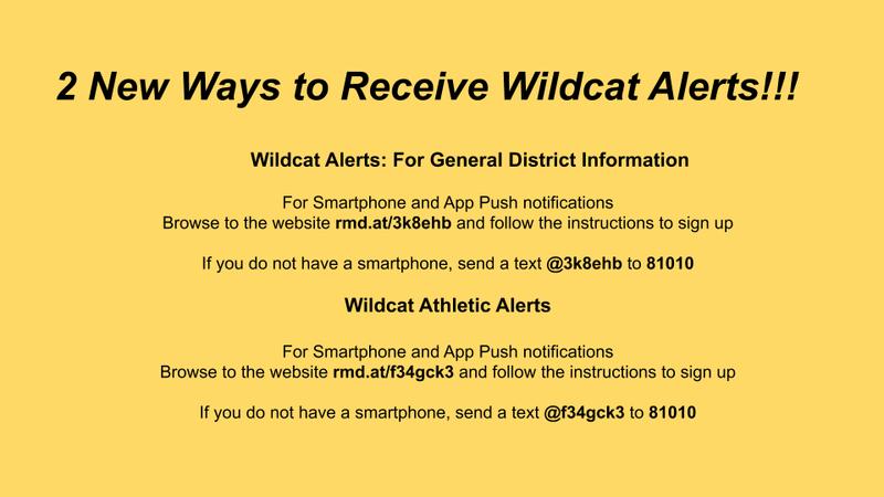 Wildcat Alerts!! Featured Photo