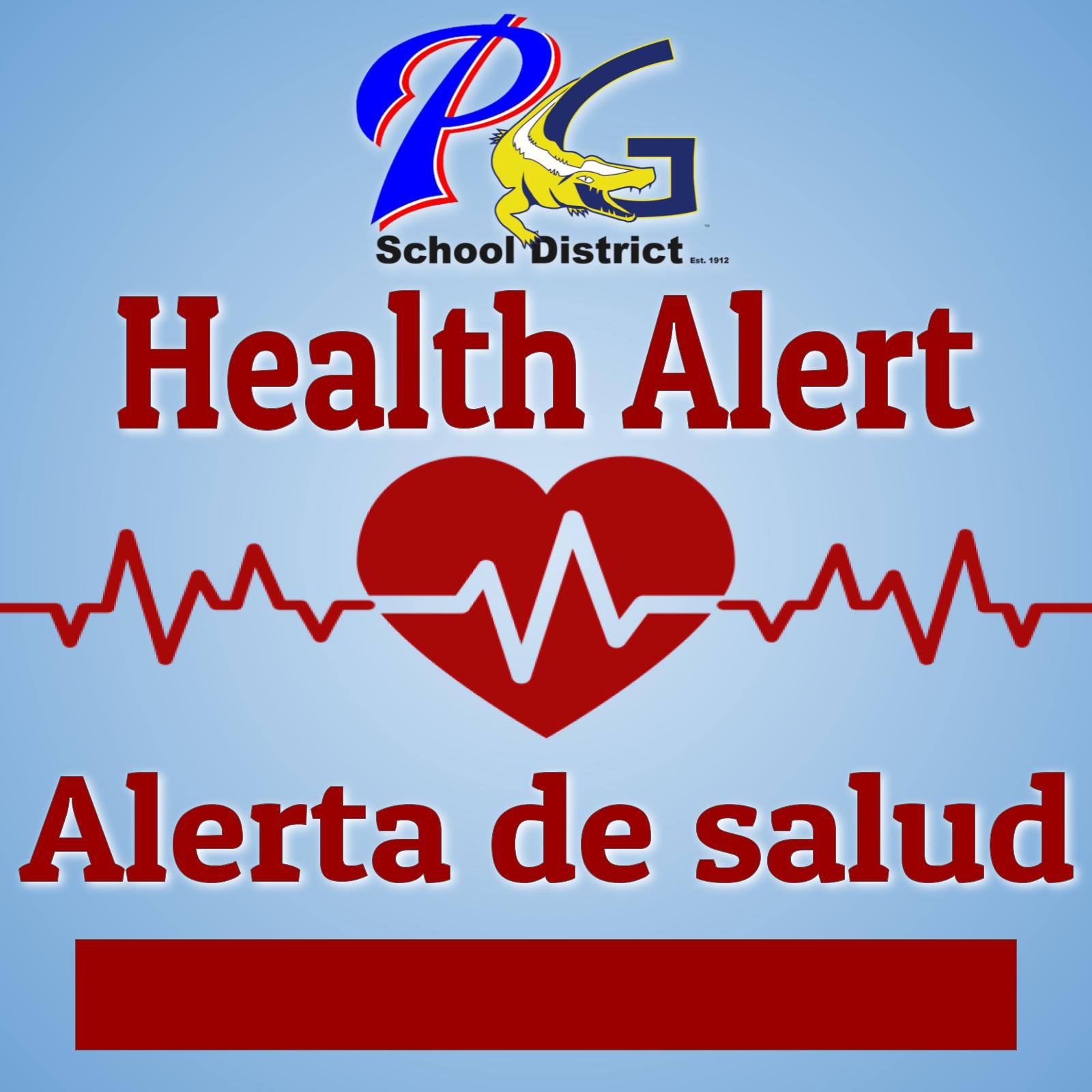 Health Alert.  Alerta de salud