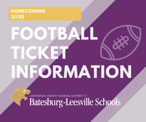 Ticket Information for Homecoming/Senior Night Football Game