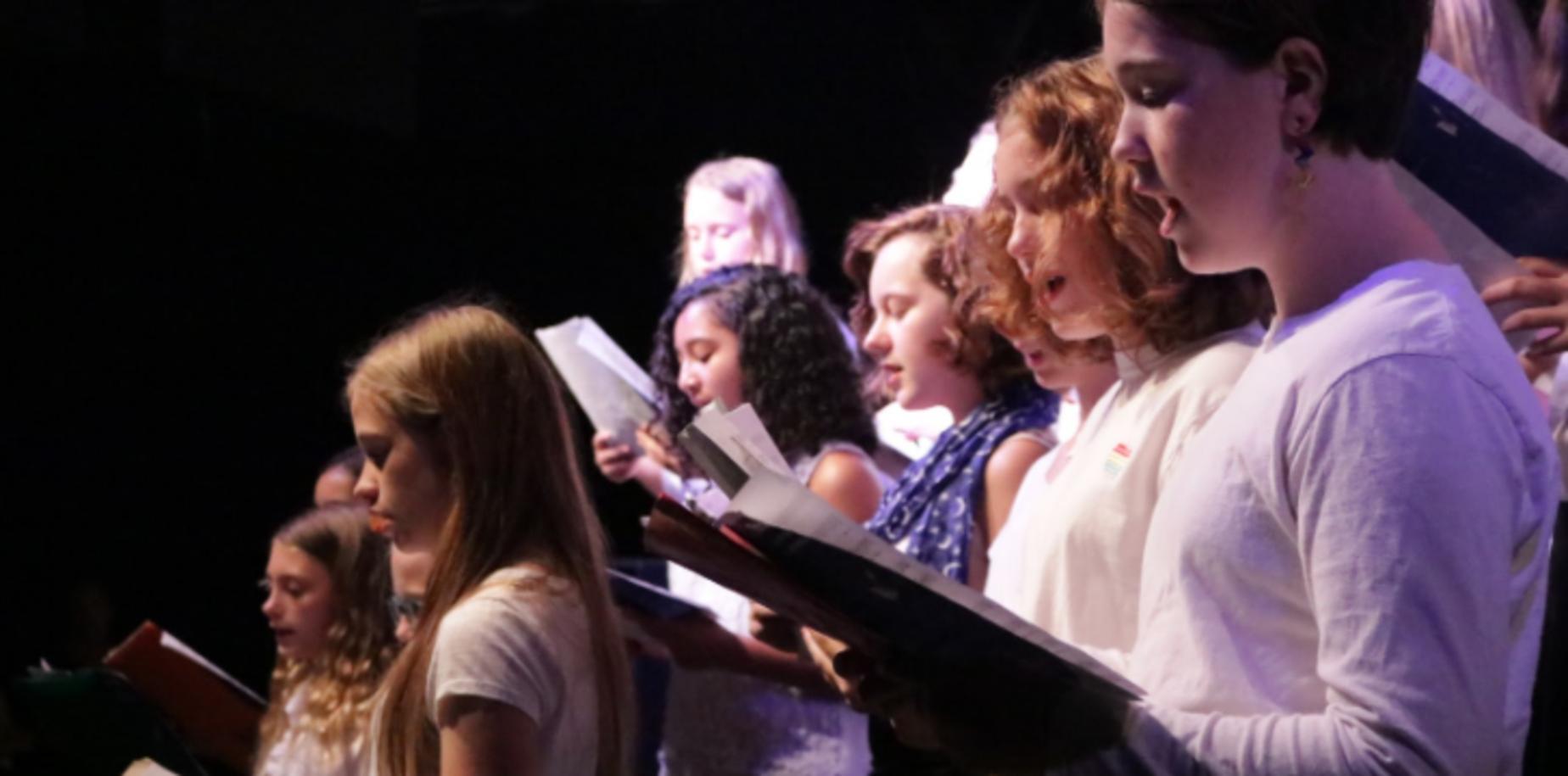 student choir performing