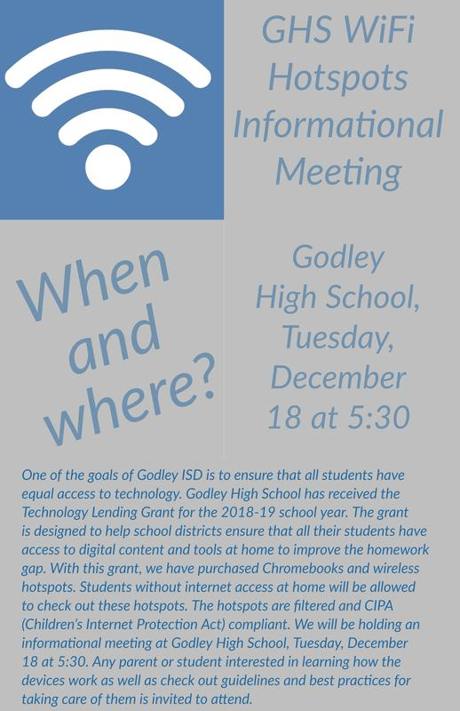 WiFi hotspot informational meeting flyer