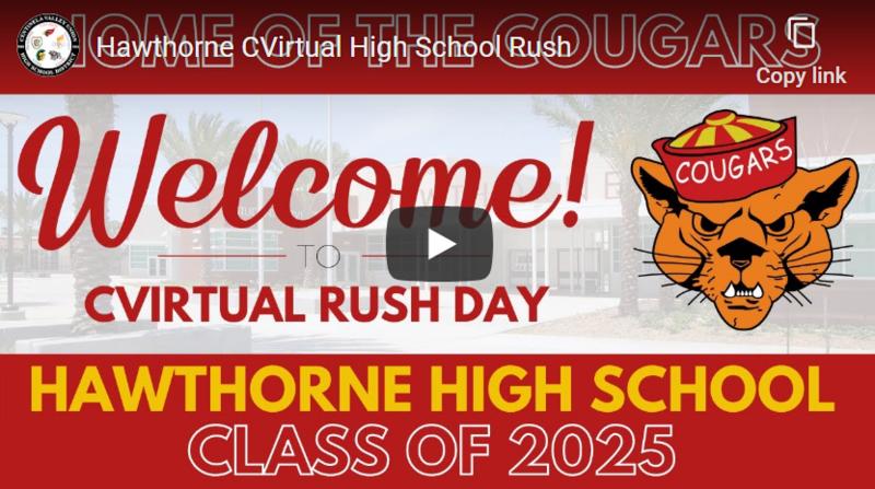 Hawthorne High School CVirtual Rush Day!