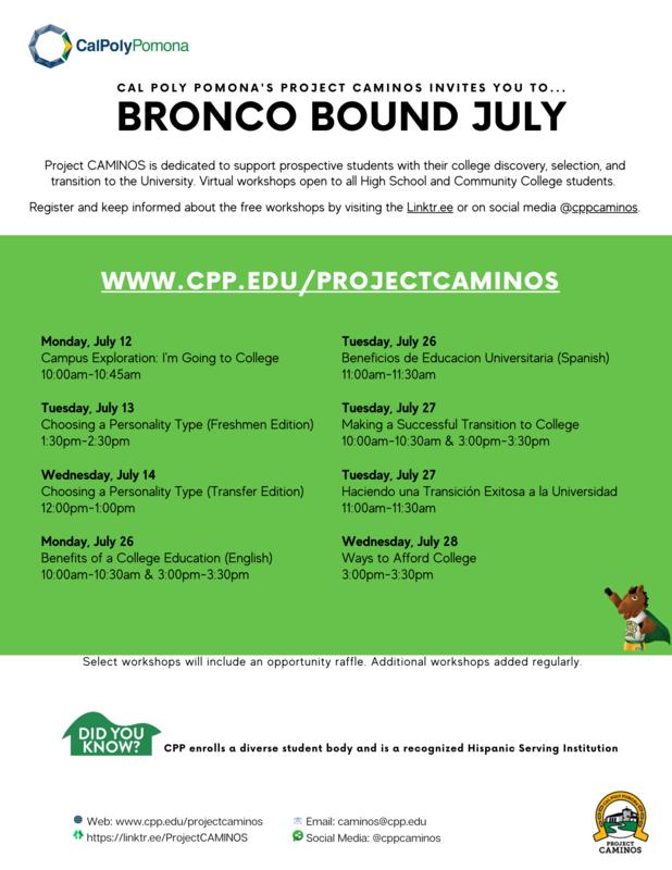 CPP Virtual Summer Workshops