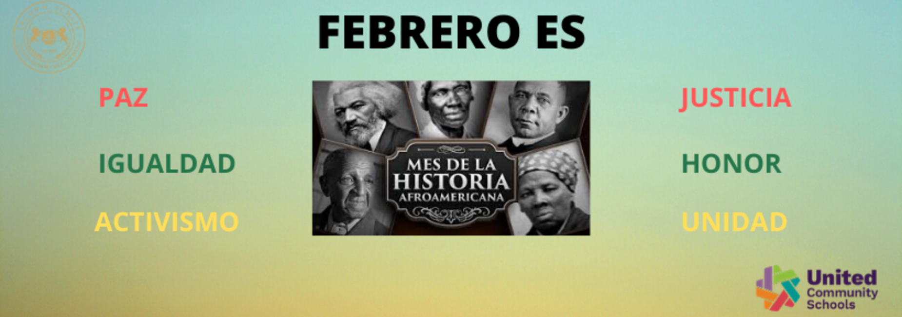 Black History Month Banner in Spanish