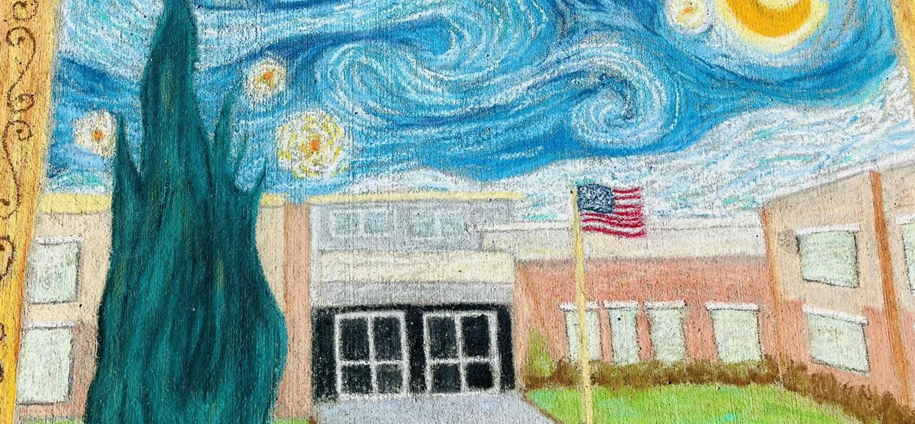legacy preparatory academy best charter school in utah chalk art on sidewalk composition of the school