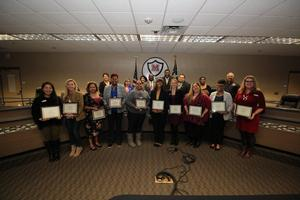 MISD counselors recognized at board meeting