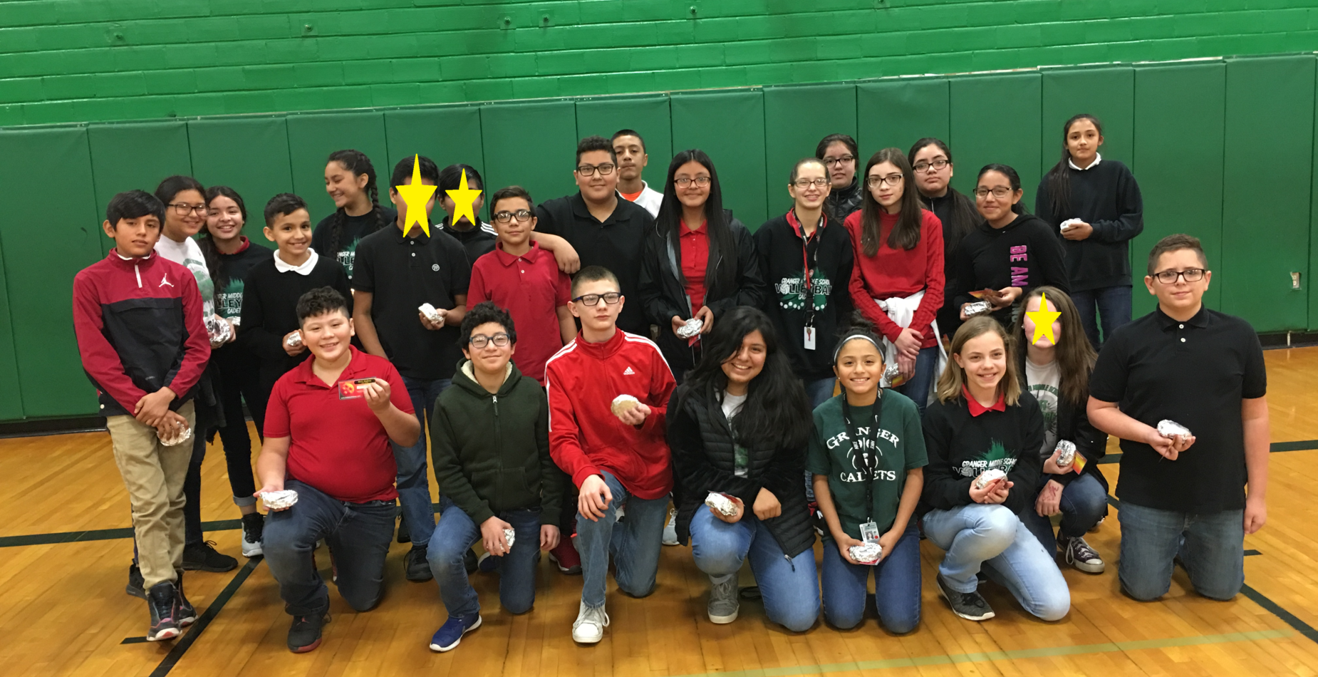 7th Grade Students with perfect attendance for 1st quarter
