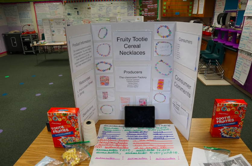 fruity tootie cereal necklaces on display