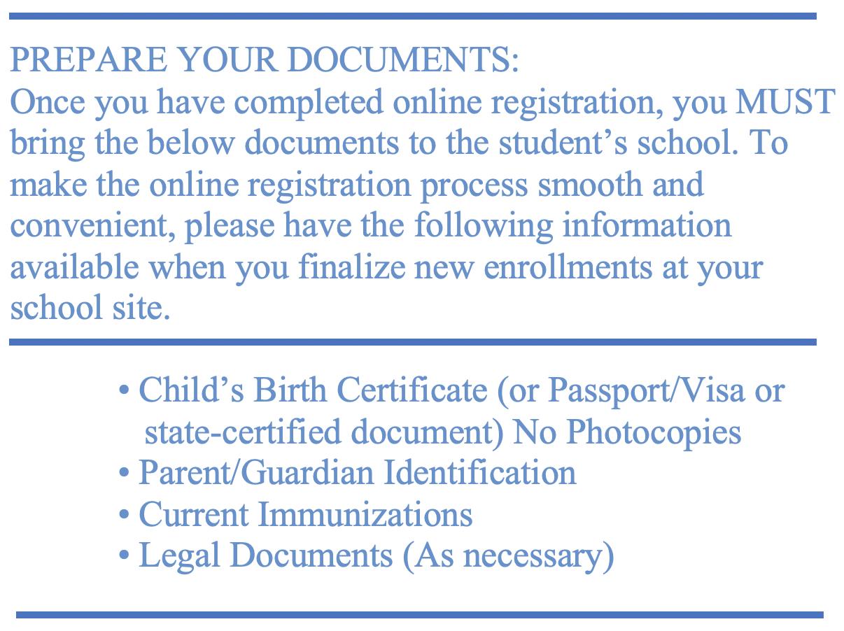 Prepare your Documents