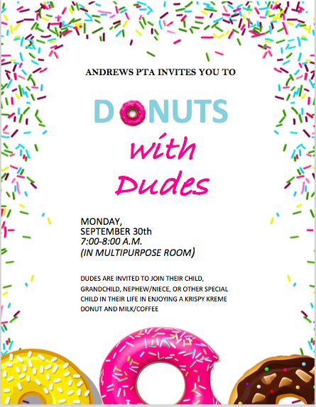 Donuts with Dude image of flyer