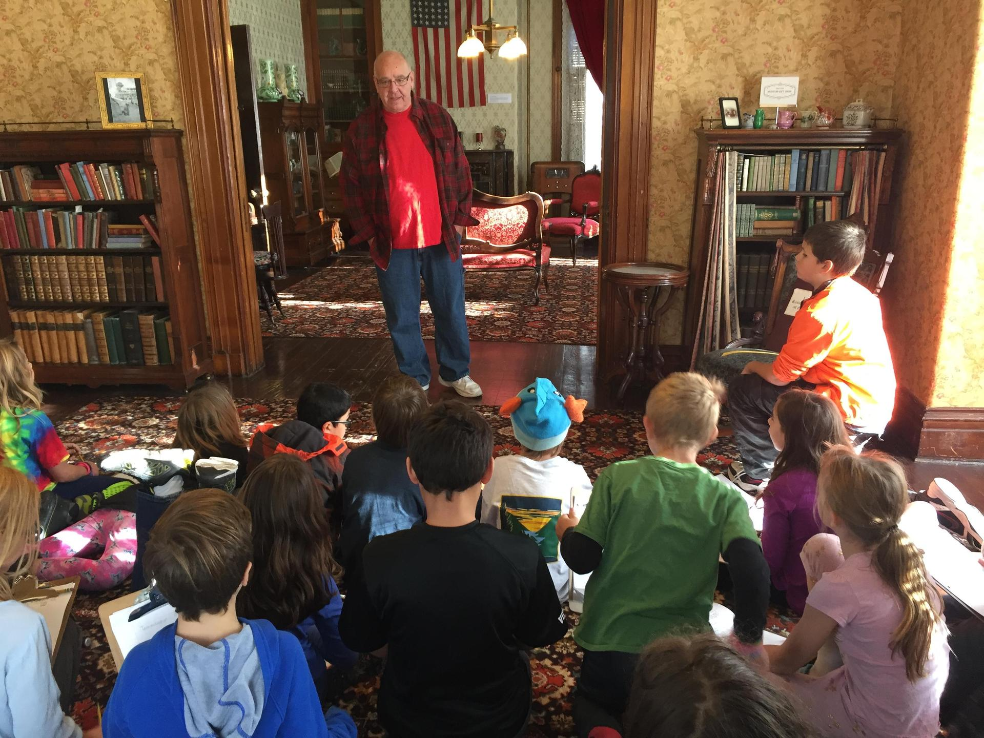 Latah County Historical Society is an important resource to our class and Docent Gary talked to the kids about the technology in the house.