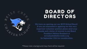 BCCS Board Member Wanted!