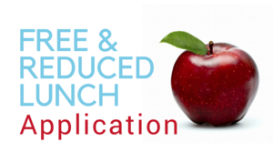 apple with words free & reduced lunch application