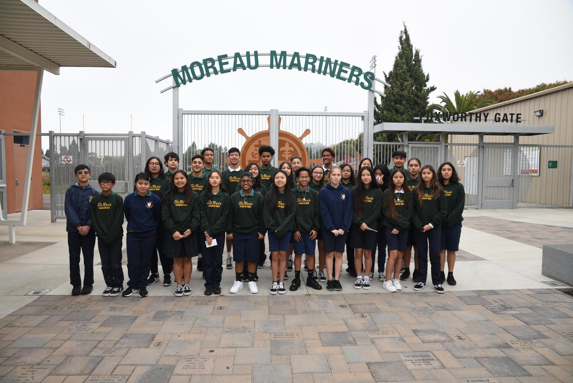 The 8th graders took a field trip to Moreau Catholic High School.