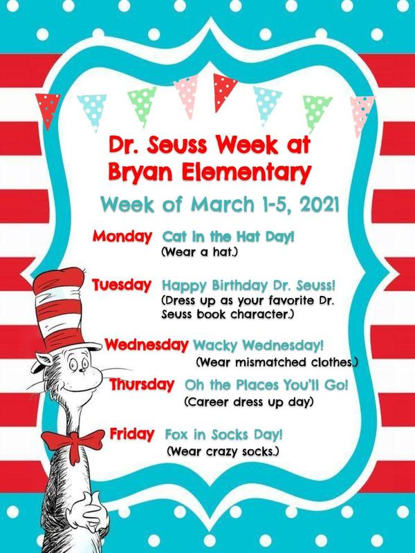 Dr. Seuss Week! March 1-5, 2021 Featured Photo