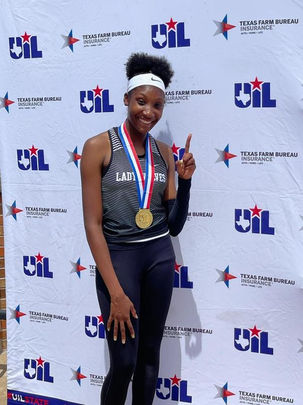 JaToryia Barnes with Gold Medal