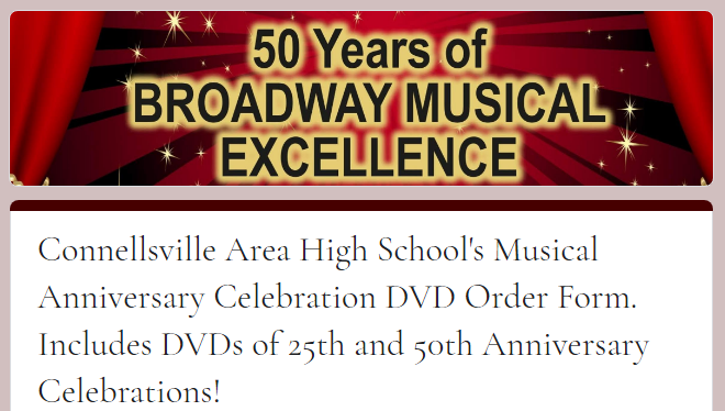 Musical Anniversary DVDs now available! Featured Photo