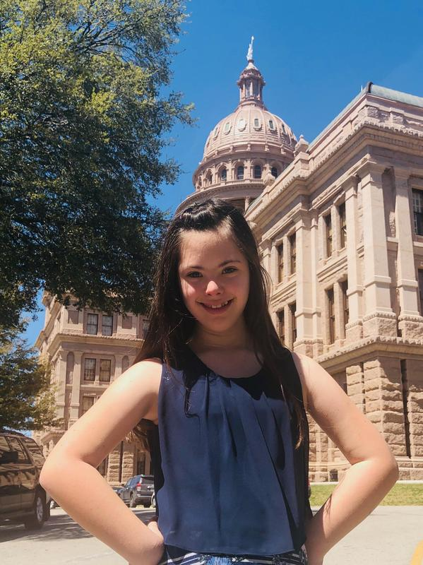 Addison Bortnick at the State Capitol