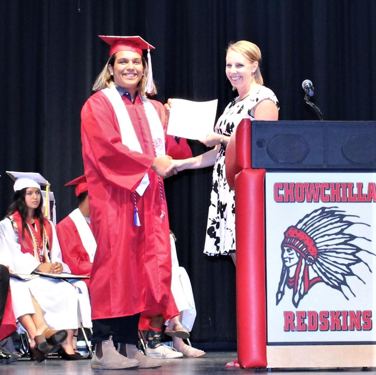 Jovanny Martinez, CUHS Director of Guidance Danielle Chapman