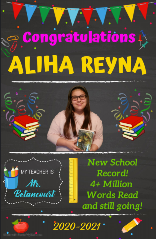 Aliha Reyna- New AR Word Count Record! Featured Photo