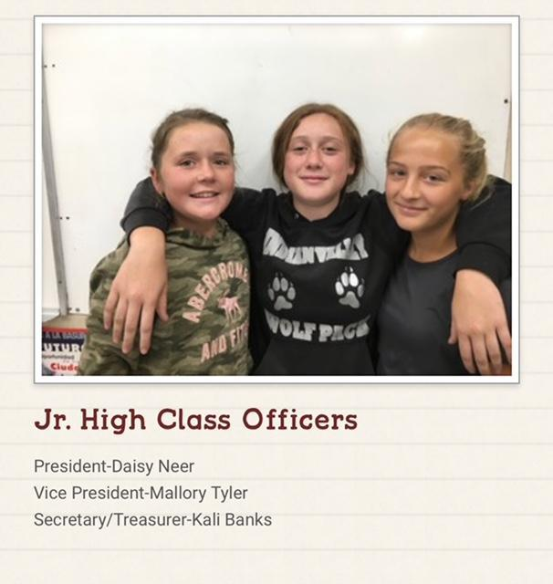 Jr. High Class Officers