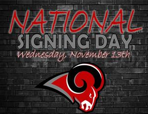 National Signing Day is Wednesday, November 13
