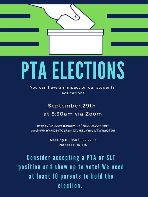 PTA election flyer