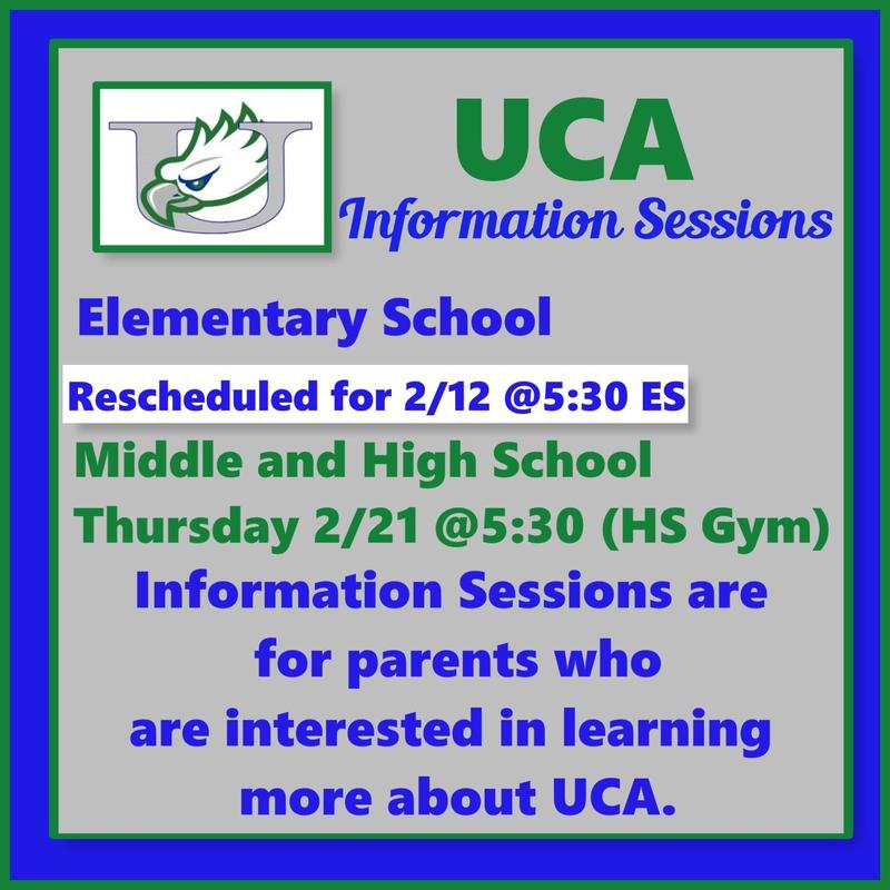 UCA Information Sessions Featured Photo
