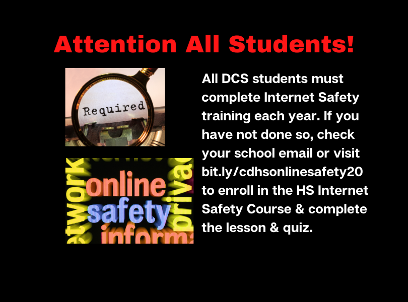 Required Internet Safety Training Info