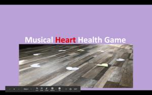 Musical heart health game