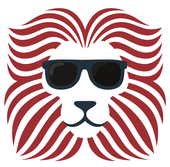Lion Logo with Shades