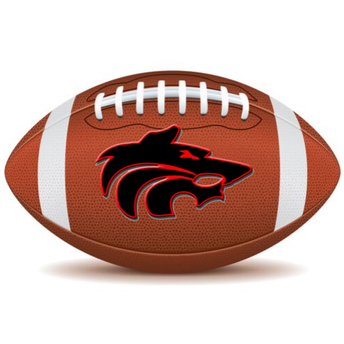 football with wolf logo