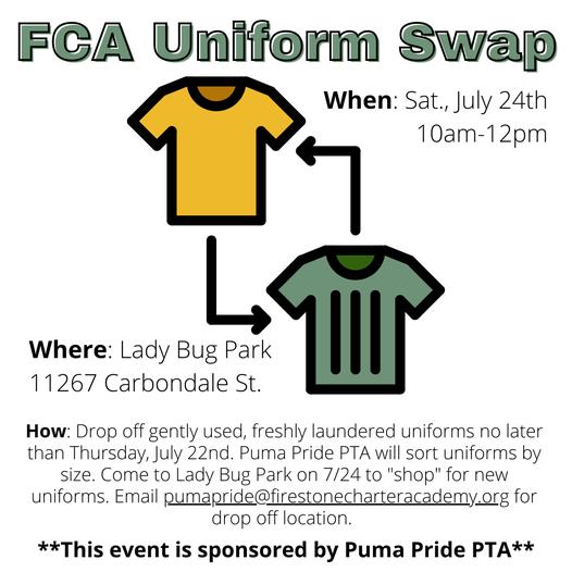 FCA Uniform Swap Featured Photo