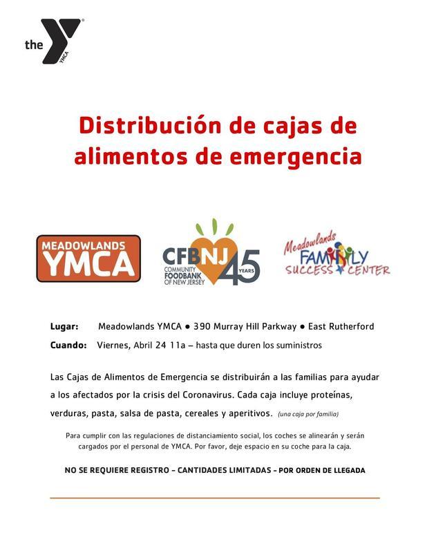 emergency food distribution Spanish