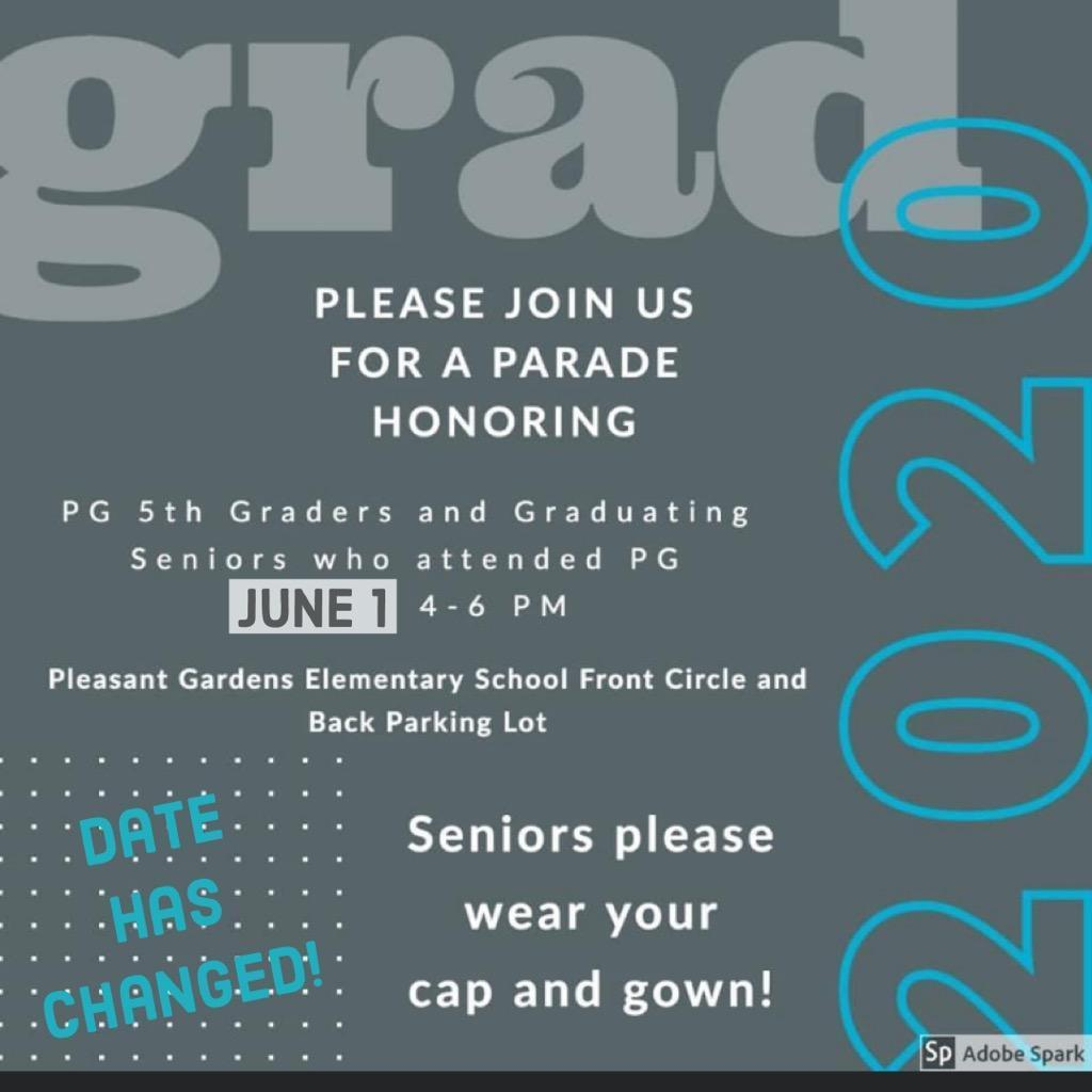 6/1/2020 4-6pm Celebrate Seniors and 5th graders